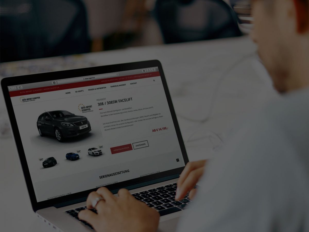Peugeot 308 online Konfigurator Auto-Import Schopper