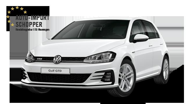 VW Golf GTD, Auto-Import Schopper EU-Neuwagen Konfigurator